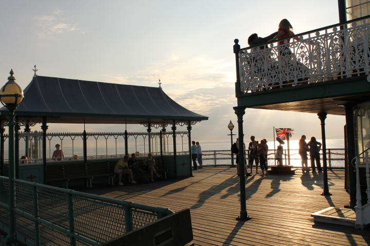 The Victorian Pier by Sunset from Above the River.JPG