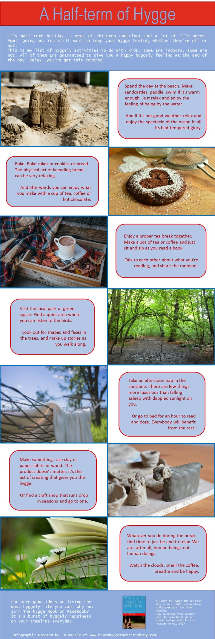A Half Term of Hygge Infographic by Jo Kneale
