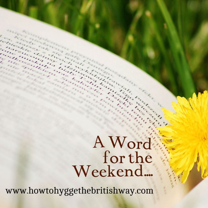 A Word for the Weekend blog series