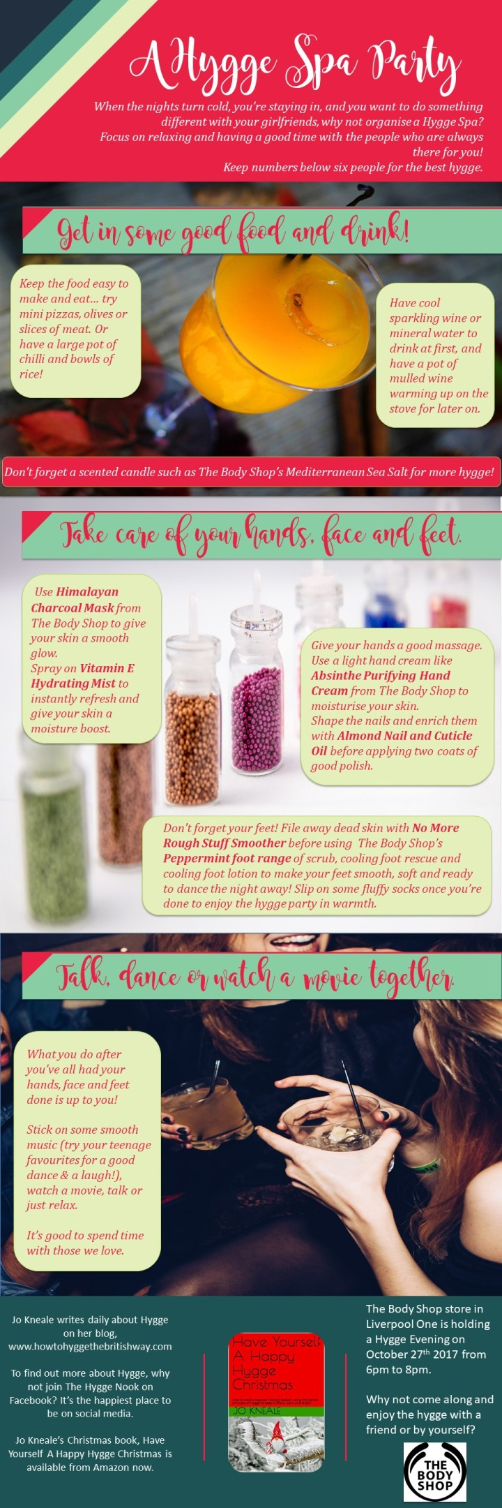 Hygge Spa Party Infographic