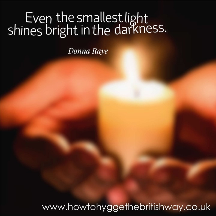 Even the smallest light shines bright in the darkness