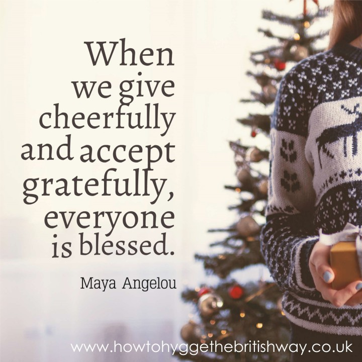 When we give cheerfully
