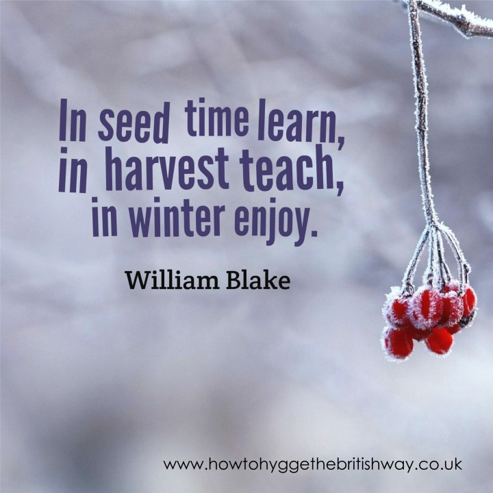 In seed time learn in winter enjoy