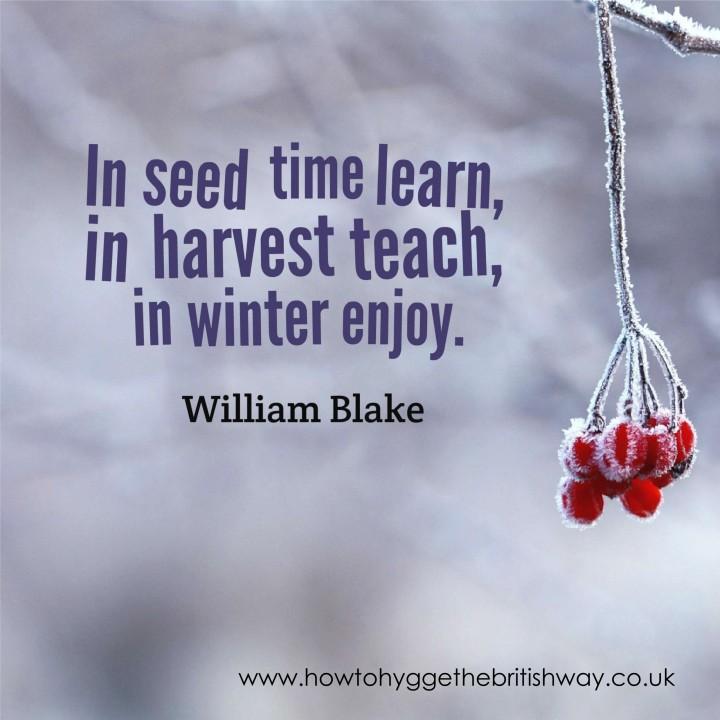 In seed time learn in winter enjoy