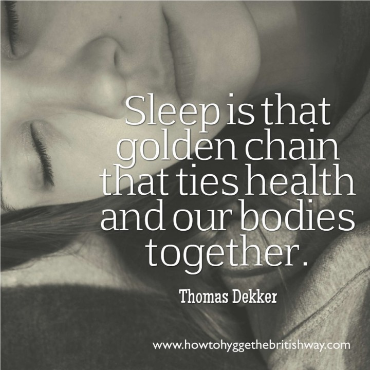 Sleep is that golden chain