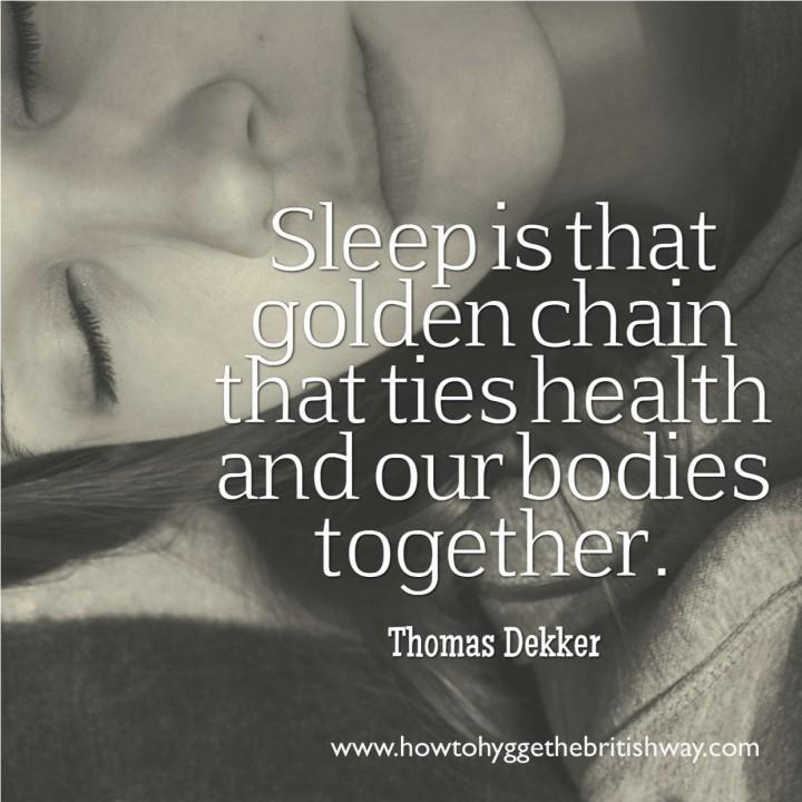 Sleep is that golden chain