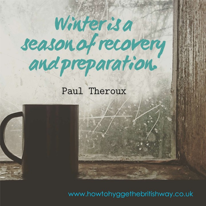 Winter is a season of recovery and preparation