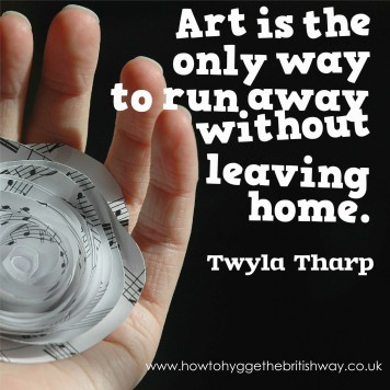 Art is the only way to run away without leaving home