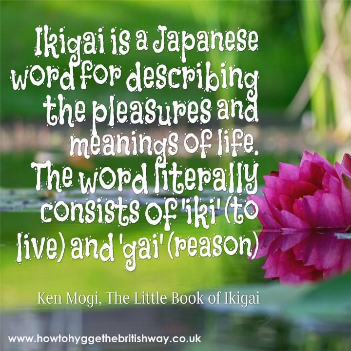 Ikigai is a Japanese word
