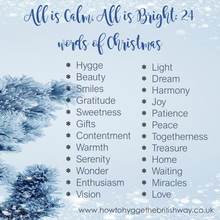 All is Calm All is Bright 24 words of Christmas Square