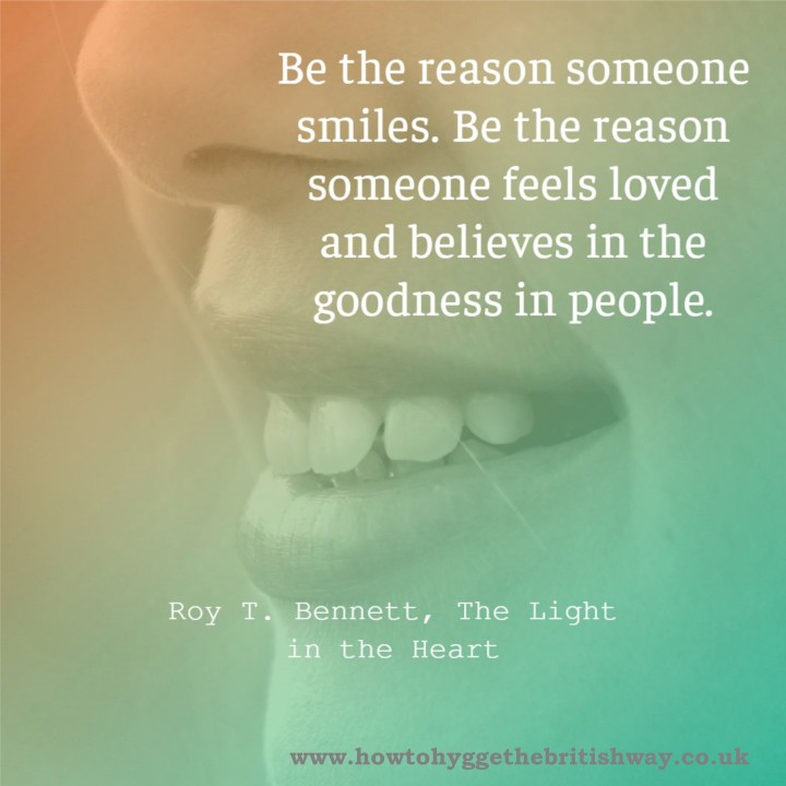 Be the reason somebody smiles