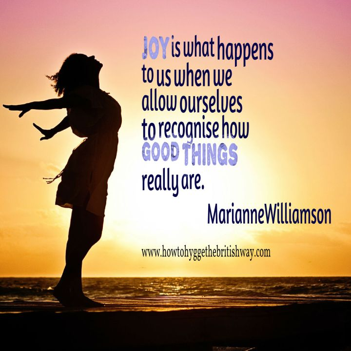 Joy is what happens to us