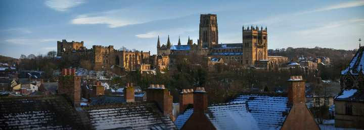 Durham in the snow