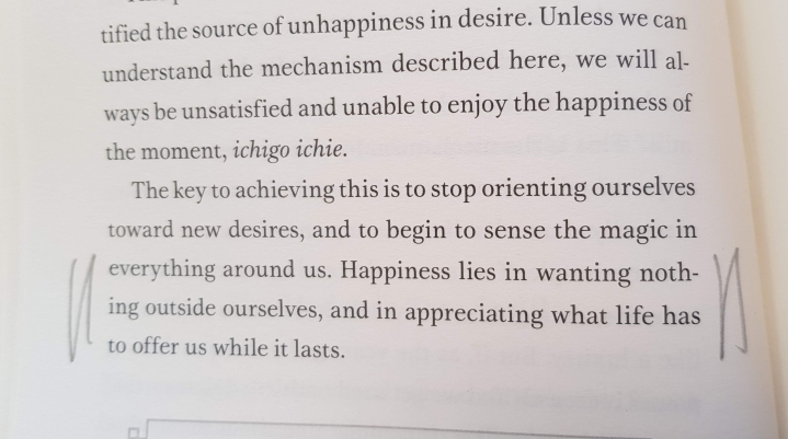 Happiness lies in wanting nothing outside ourselves